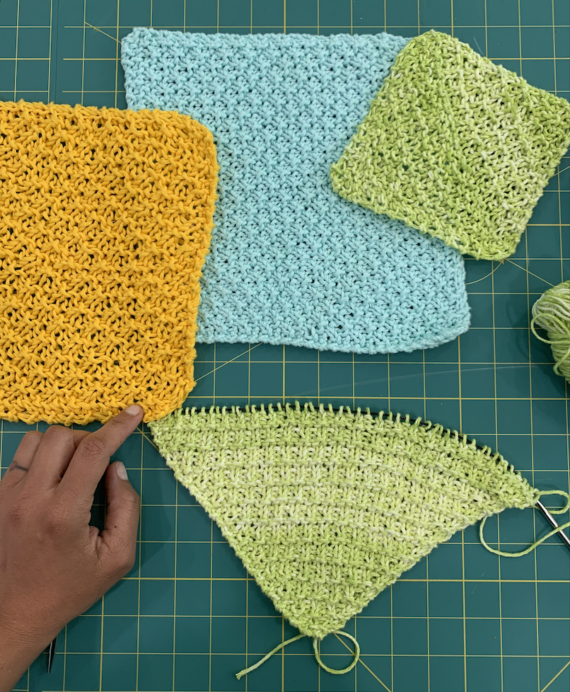 grid stitch washcloth dishcloth pattern and kit by crafty gemini