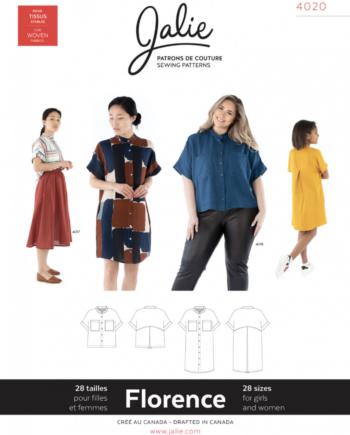 Jalie 4020 FLORENCE Shirt and Shirtdress