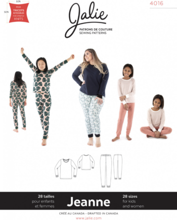 jalie 4016 JEANNE Knit PJ Set