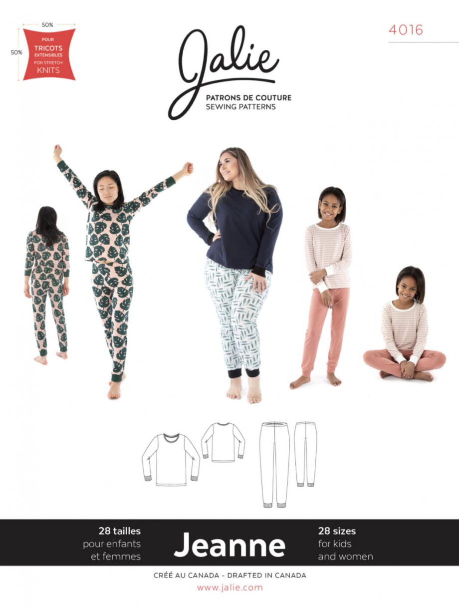 jalie 4016 JEANNE Knit PJ Set