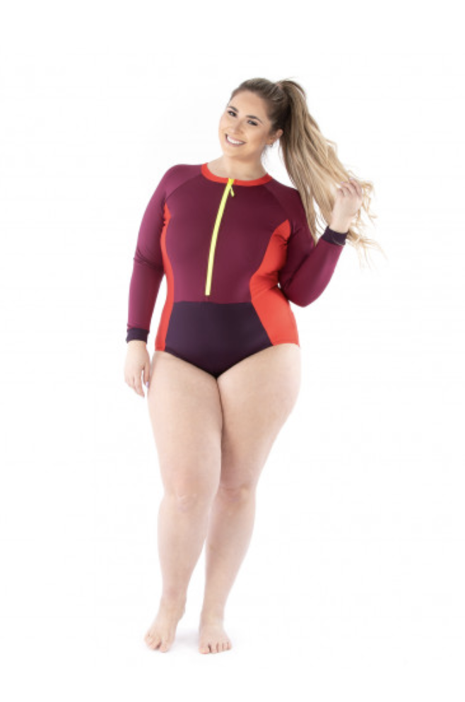 jalie 4013 ZOE Long-Sleeve Front-Zip Swimsuit