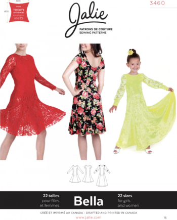jalie 3460 bella dress sewing pattern