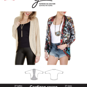 jalie 3353 cocoon cardigan sewing pattern