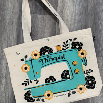 my therapist sewing machine tote bag by craftedmoon