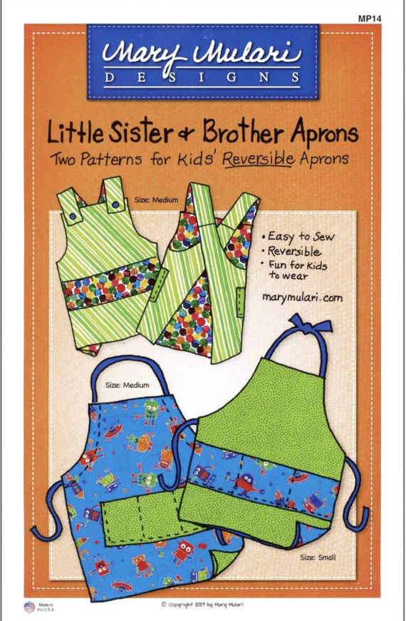 Little Sis and Bro Aprons Patterns by Mary Mulari