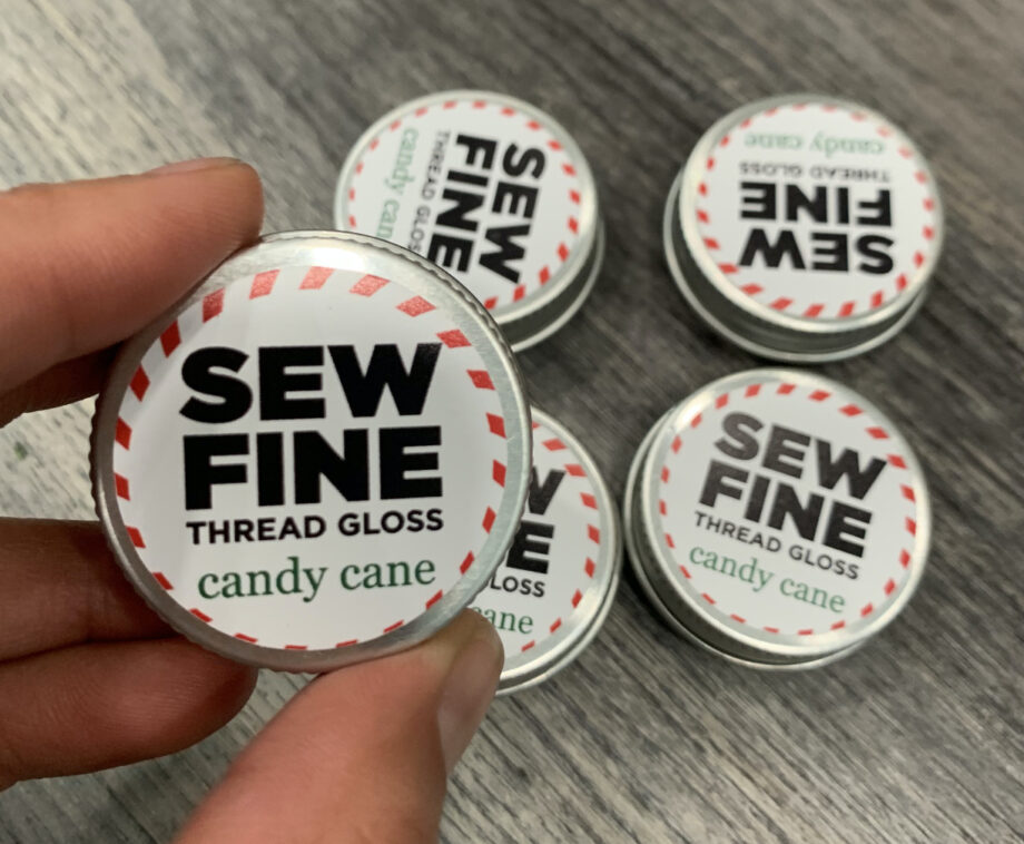 sew fine thread gloss candy cane