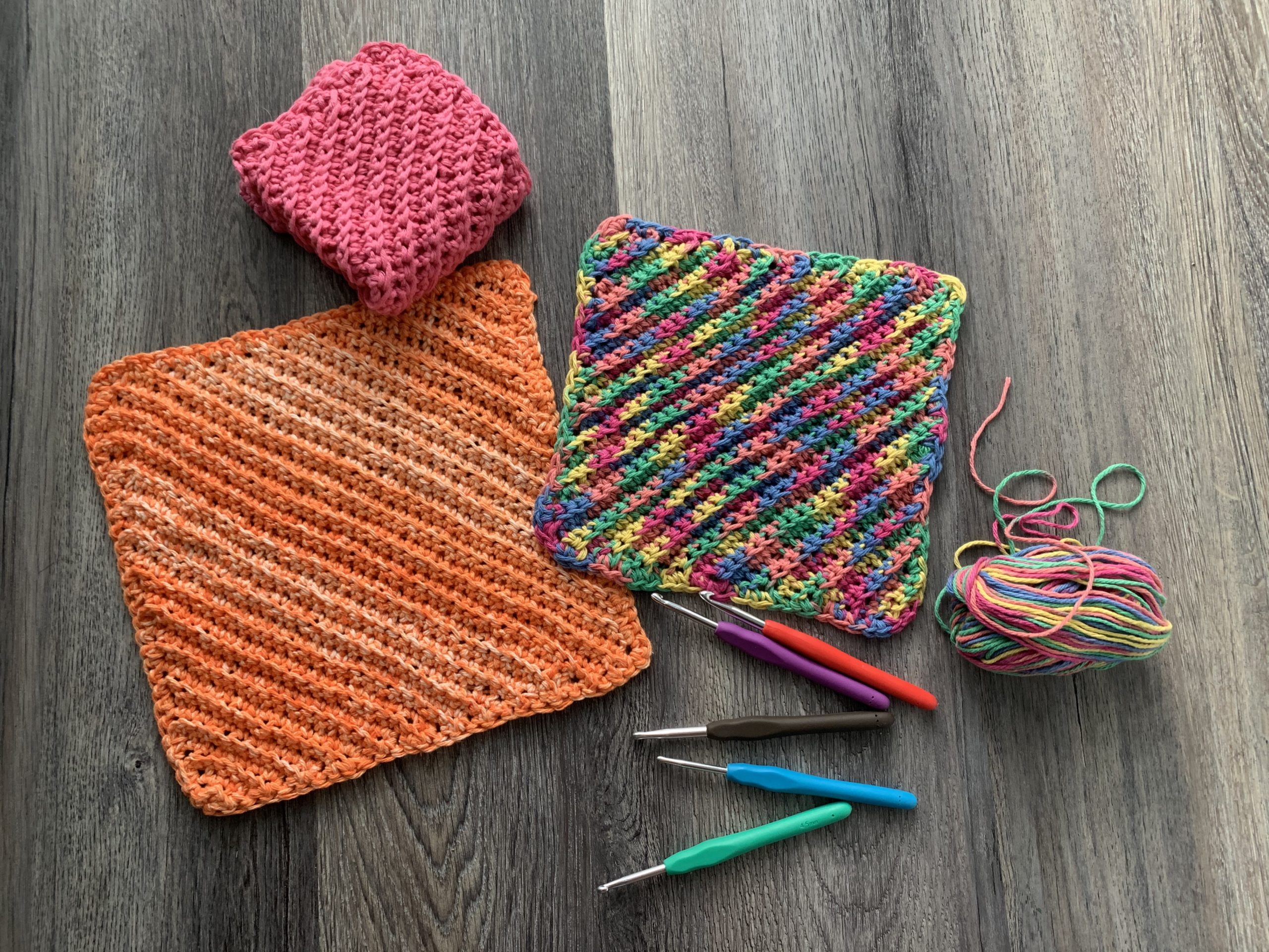 ribbed crochet dishcloth washcloth by crafty gemini