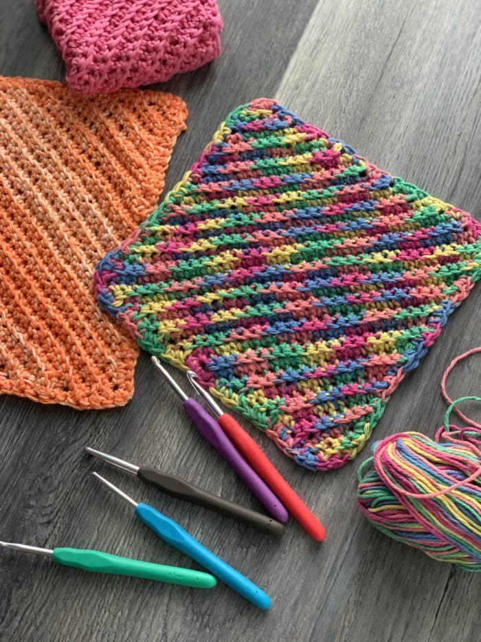 ribbed crochet dishcloth by crafty gemini