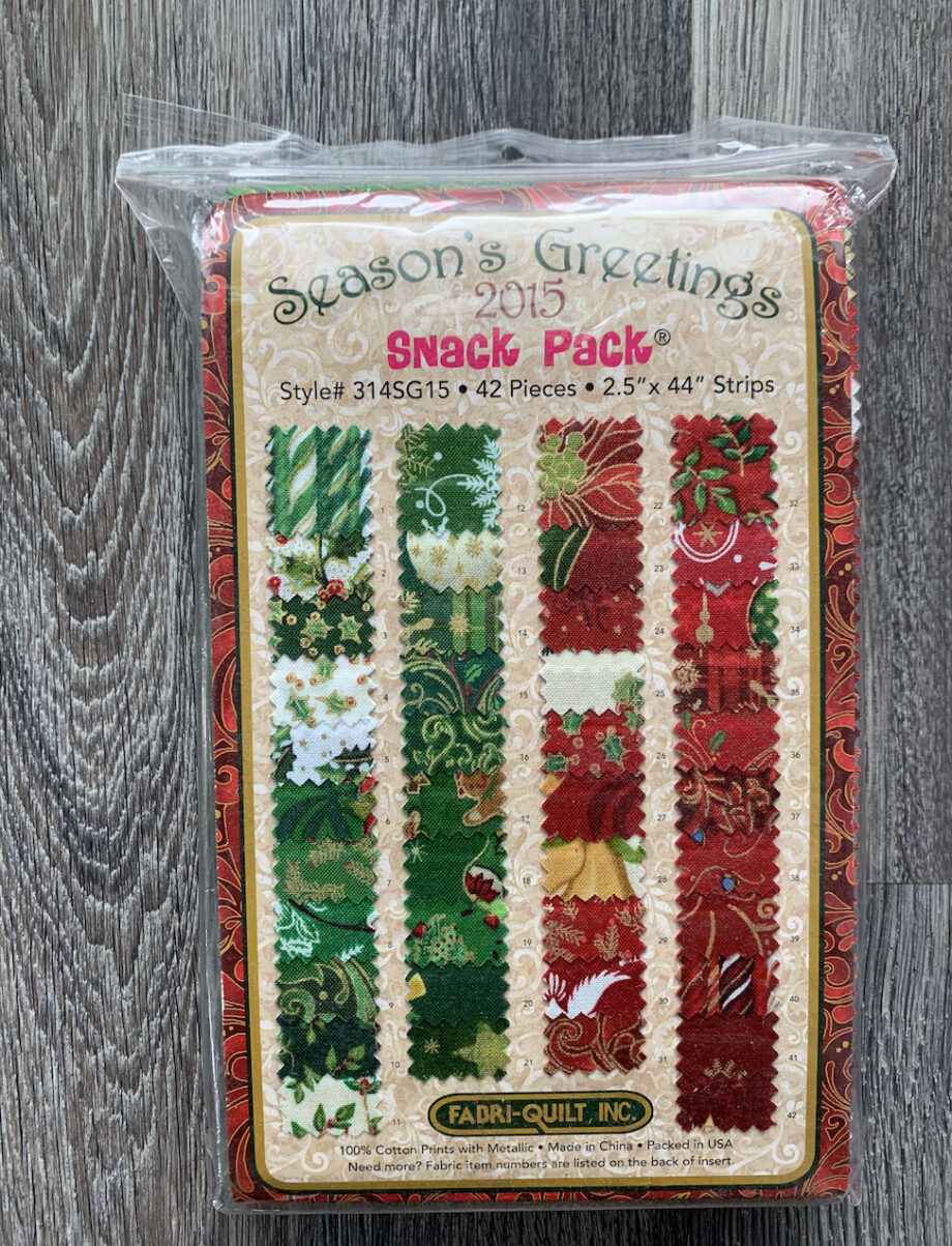 Season's greetings christmas fabric jelly roll fabric pack