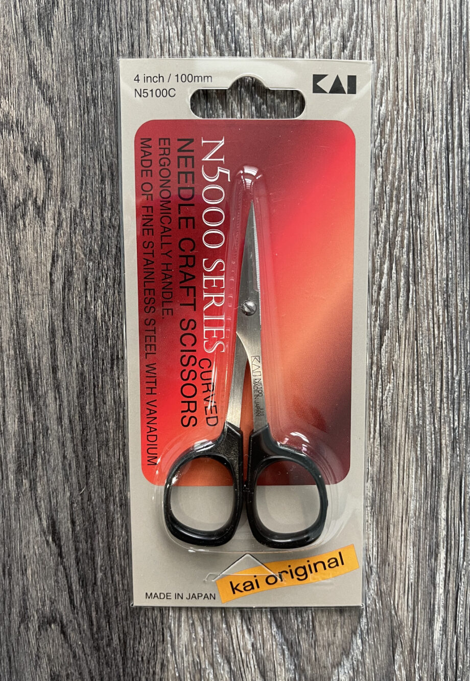 "KAI 4"" curved Needlecraft Scissors"