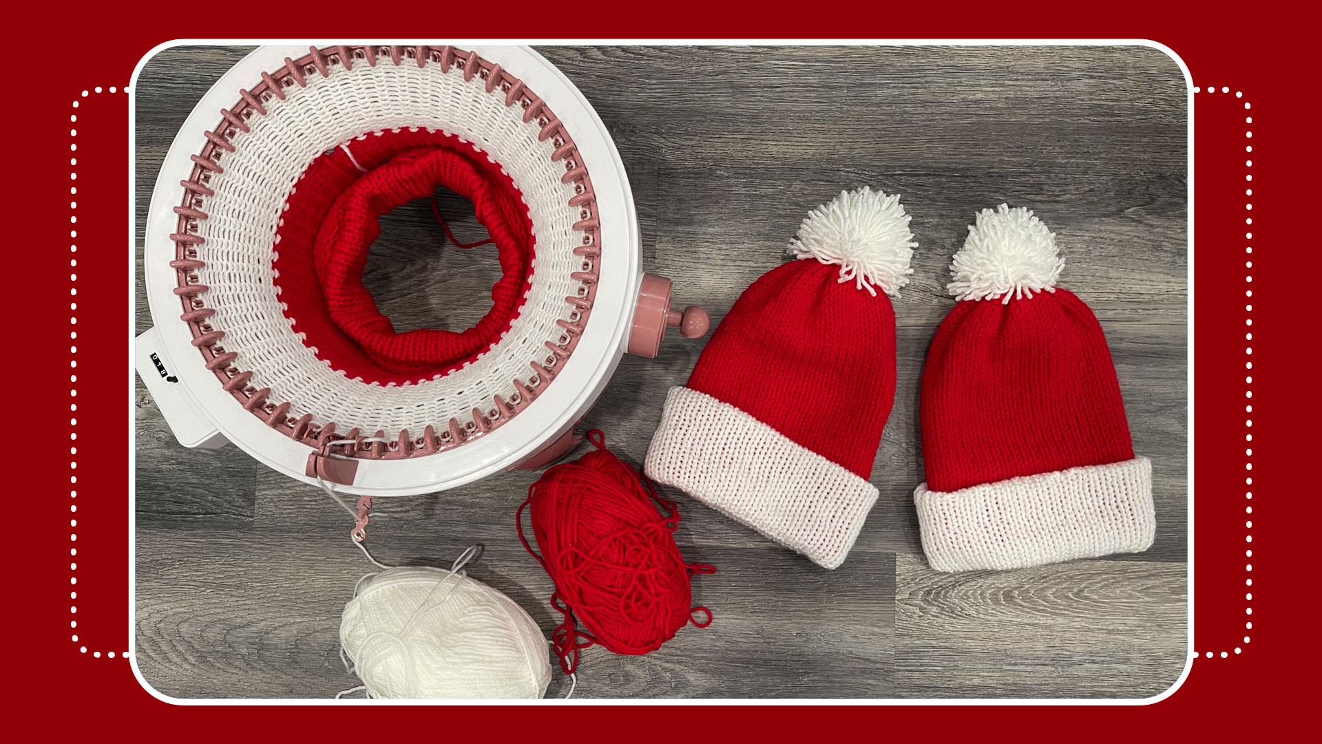 crafty gemini santa hat tutorial sentro jamit knitting machine