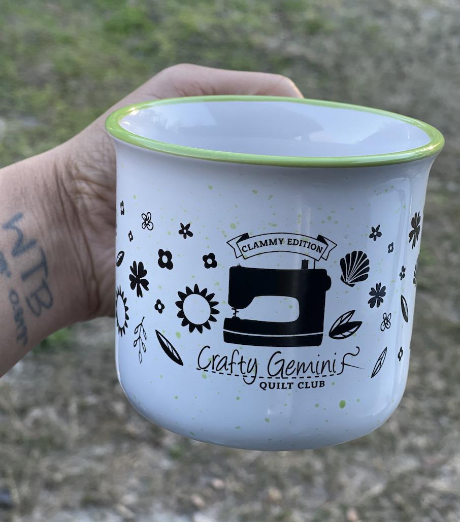 clammy quilt club mug