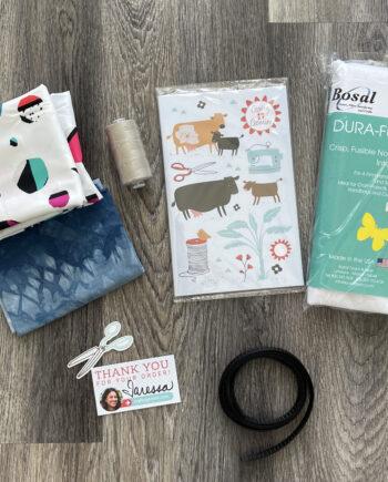 round bottom tote bag kit by crafty gemini