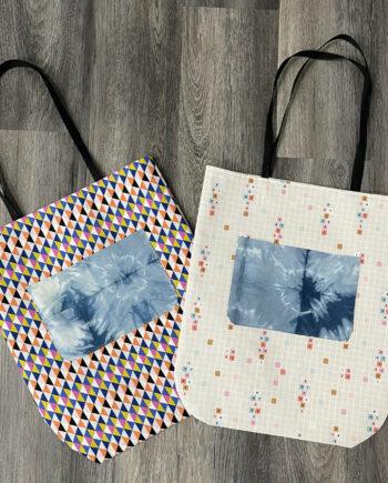 round bottom tote bag by crafty gemini