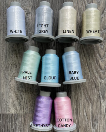 glide thread 40 wt light grey free motion quilting