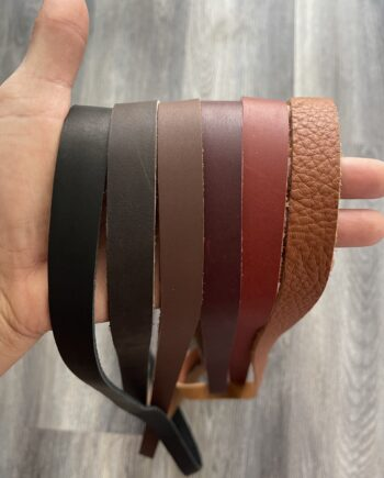 oil tanned leather straps for bag making