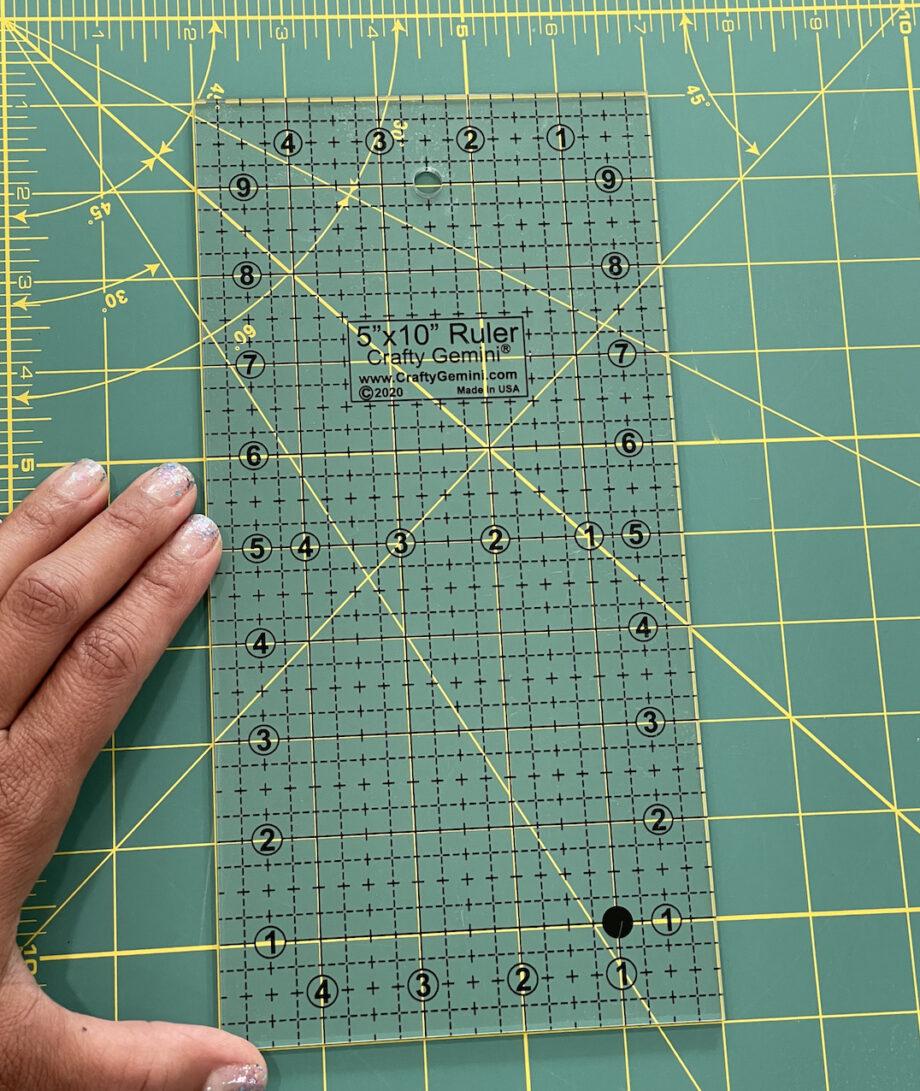 "crafty gemin 5"" x 10"" quilting ruler"