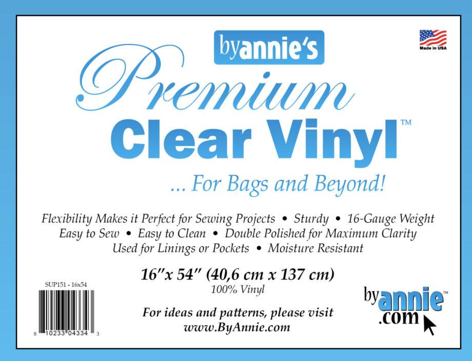 ByAnnie clear vinyl for bags 16 gauge