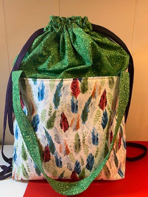 joys drawstring bag by crafty gemini