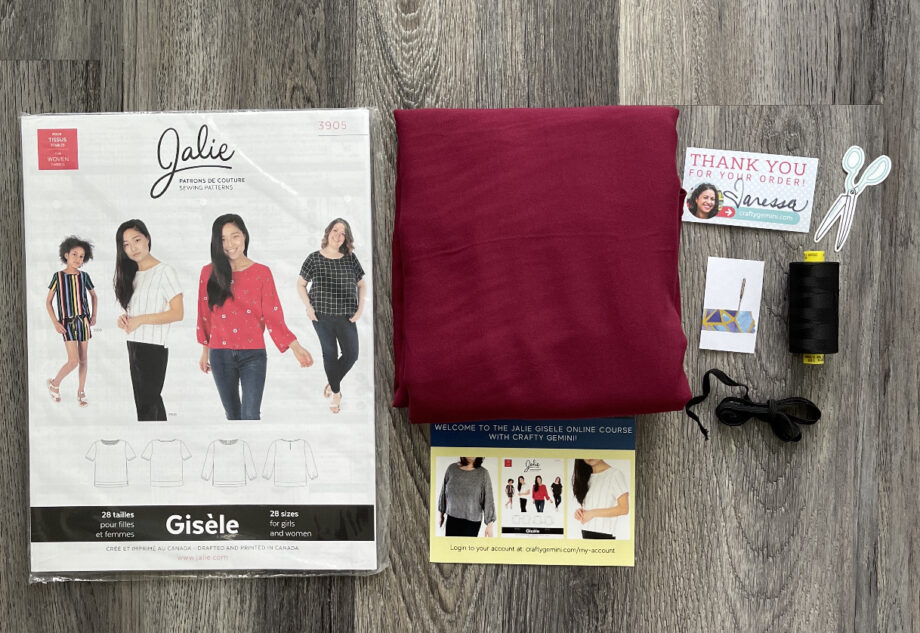 jalie gisele wine kit by crafty gemini